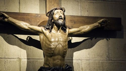The large Crucifix…