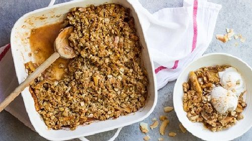 Honey Sweetened Apple Crisp